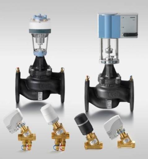 фланцевые комбиклапаны Siemens VPF43, VPF53 и привод SAV