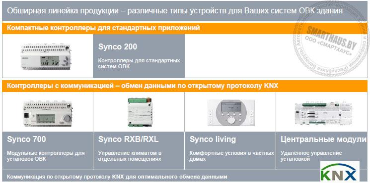 Линейка контроллеров Synco Siemens