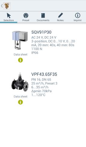 3 этап программы подбора комбиклапанов Siemens